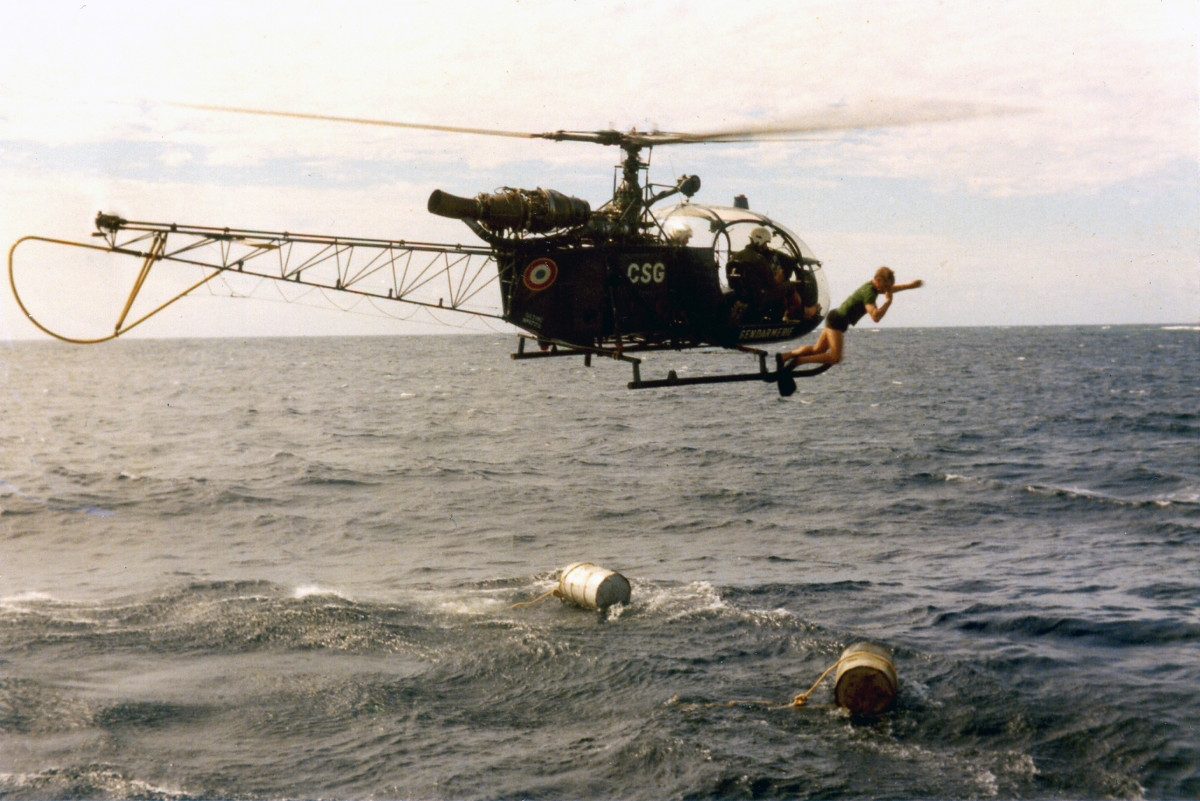 Barrels brought by helicopter