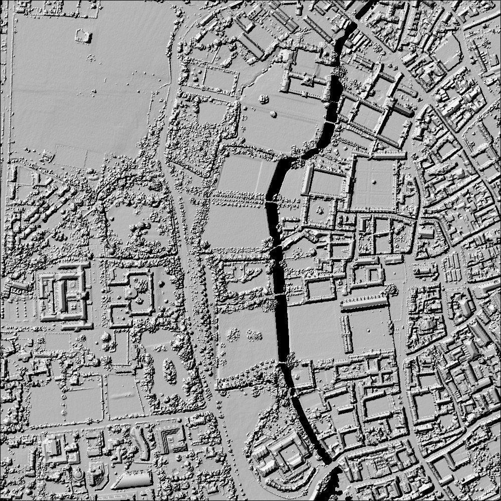 Image LIDAR de la région de Cambridge